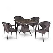 Комплект плетеной мебели T220BBT/Y290B-W52 Brown 4Pcs фото