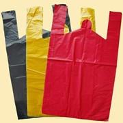 Пакет майка 300x550 мм, 20мкм цветной (красный, белый) ПНД фото