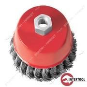 Щетка чашечная Intertool BT-2075 75 мм, для УШМ, М14 (пучки витой проволоки) №447160 фото