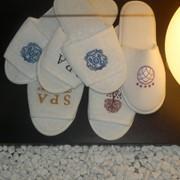 Тапочки махровые одноразовые для гостиниц и спа салонов фото