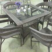 Набор мебели, стол + четыре кресла, искусственный ротнаг, код: меб 75 фото