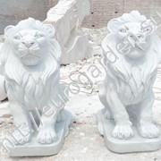 Статуи из мрамора Львы фото