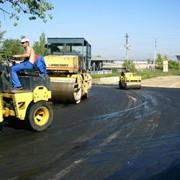 Работы по строительству дорог фото