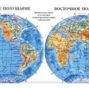 Карта учебная Карта полушарий код 5556 фото
