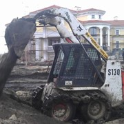 Аренда гусеничного мини погрузчика Киев фото