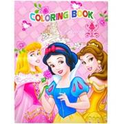 Раскраска А4 с наклейками Принцессы фото