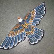 Воздушный змей Бабочка объемный, ручная роспись, арт. 881105*** фото