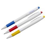 Ручка авт. шариковая OfficeSpace, синяя, бел. корп, 0,7мм, грип, (Спейс) фото
