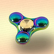 Спинер трехлучевой металл, со сферами, хамелеон фото