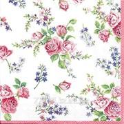 Салфетка для декупажа Прекрасные розы мини фото