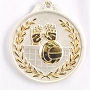 Медаль рельефная волейбол - серебро фото