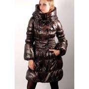 Зимнее пальто ЭММА шоколад фото