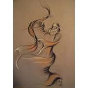 Картина в технике пастель Гуэдра фото