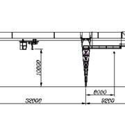 Кран козловой электрический общего назначения грузоподъемностью 10 т управление из подвижной кабины фото
