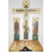 Крест Голгофа №1-2 с Предстоящими канвас фото