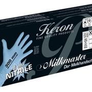 Одноразовые ветеринарные нитриловые перчатки Milkmaster фото