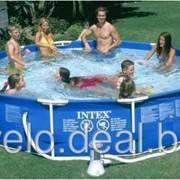 Каркасный бассейн Intex 28212 (56996) Metal Frame Pool 366 x 76 с фильтром-насосом фото