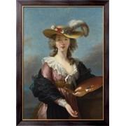 Картина Автопортрет в соломенной шляпе, Виже-Лебрён, Мари Элизабет Луиза фото