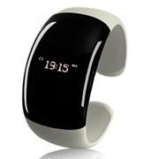 Женский Bluetooth-браслет с часами White Pearl фото