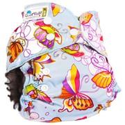 Многоразовый подгузник GlorYes! OPTIMA NEW Бабочки 3-18 кг + два вкладыша фото