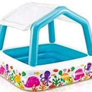 "Детский бассейн ""Домик"" с навесом, 157х157х122см, 280л (Intex) 57470 фото"