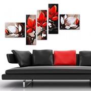 Картины модульные под стекло и на деревянных каркасах фото