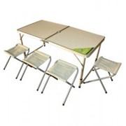 Комплект: раскладной стол и 4 табурета фото