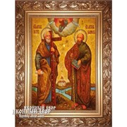 Иконы из янтаря Апостолы Петр И Павел, цена, Код товара: ар- О185 фото
