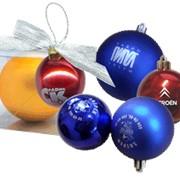 Елочные шары с логотипом фото