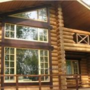 Шлифовка деревянных домов фото