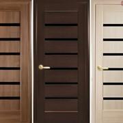 Дверь из бруса Новый стиль Линнея BLK золотая ольха фото
