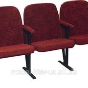 Кресло для актового зала, 3-местное, ткань 283 фото