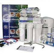 Фильтры для питьевой воды . Семиступенчатая система Aquafilter FRO8JGM обратного осмоса с минерализатором и биокерамическим картриджем (Голубая лагуна 7) фото