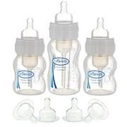 Набор из 3-х противоколиковых бутылочек для кормления Dr.Brown's (Доктор Браун) с широким горлышком. фото