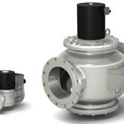 Клапаны газовые электромагнитные серии ВН двухпозиционные отсечные фланцевые нормально-закрытые в стальном корпусе фото