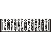 Заборы бетонные «Плетень ажурная» №14