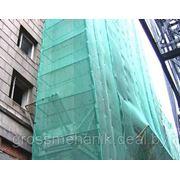 Сетка фасадная зеленая фото