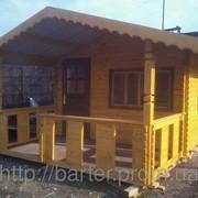 Дом деревянный сборный из профилированного бруса фото