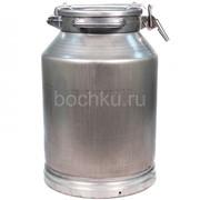 Фляга алюминиевая 40 литров молочная фото