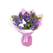 Букет цветов из ирисов фото