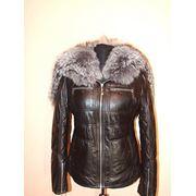 Зимние кожаные куртки фото