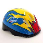 Шлем защитный, детский, голубой / огонь фото