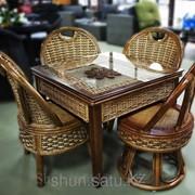 Стол+4 стула из натурального ротанга фото