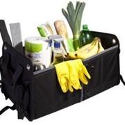 Складной органайзер в багажник Daily, черный с серым фото
