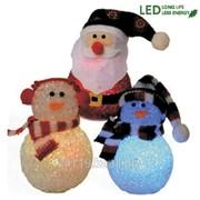 Декорация светодиод. Снеговик и Дед Мороз фото