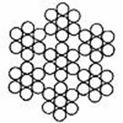 Канат стальной двойной свивки типа ЛК-О ГОСТ 3066-80 DIN 3055 6х7 (1+6)+1х7 (1+6)