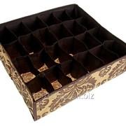 Кофр для мелких вещей Шоколатье, 24 отделения, цвет коричнево-бежевый фото