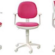 Бюрократ Кресло детское CH-W356AXSN/15-55 белый пластик, ткань, розовое фото