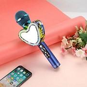 Беспроводной Bluetooth караоке микрофон Q5 Сердце (Синий) фото