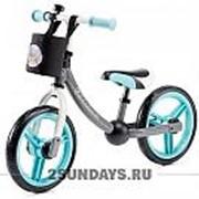 Детский беговел Kinderkraft Balance bike 2way next turquoisе с аксессуарами фото
